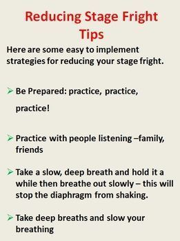 Dealing with Stage Fright - Performance Anxiety