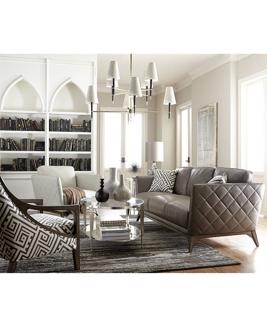 Kourtney Accent Chair Chairs Recliners Furniture Macy S Leather Sofa Macy Furniture Sofa Furniture