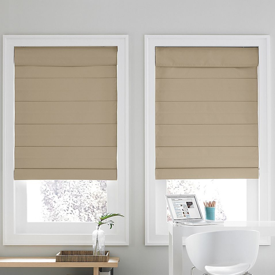 Real Simple Cordless Roman Cellular 72 Inch X 72 Inch Shade In Khaki In 2020 Cordless Shade Real Simple Cellular Shades