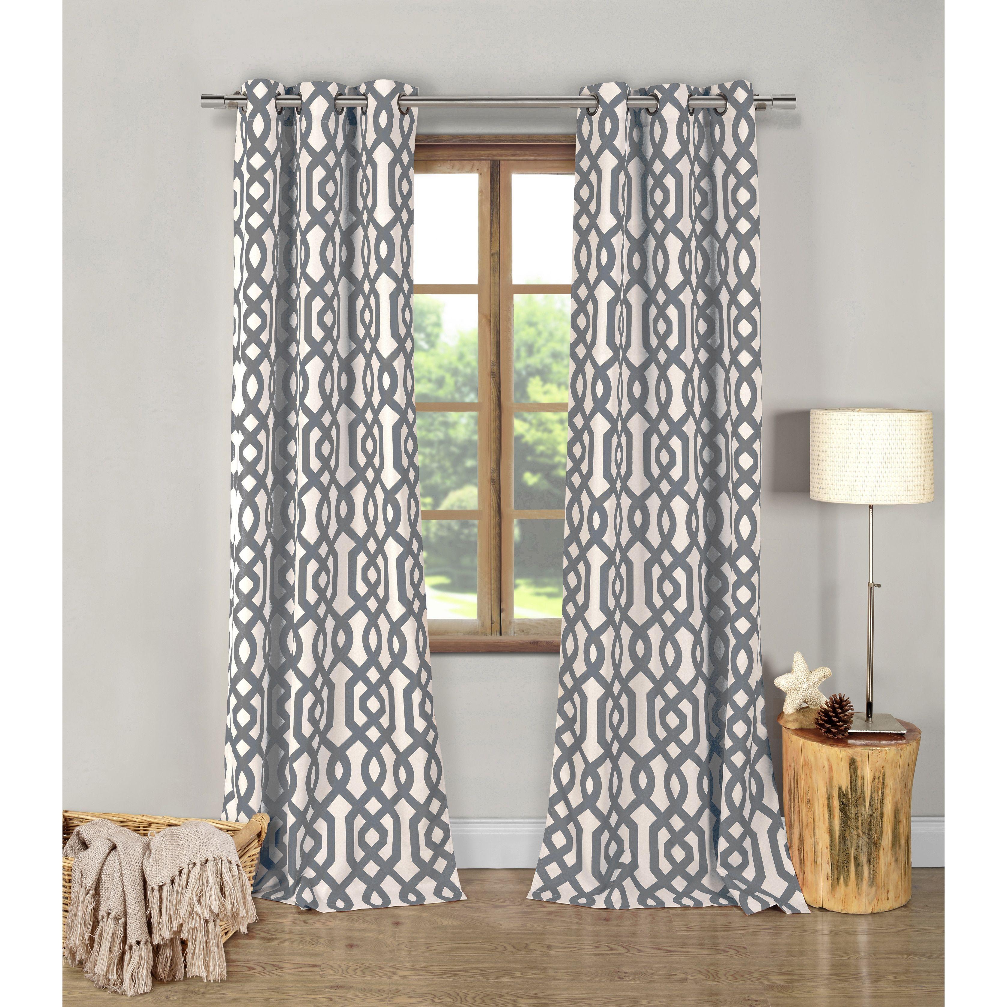 Duck river ashmont geometric inch grommet top curtain panel pair