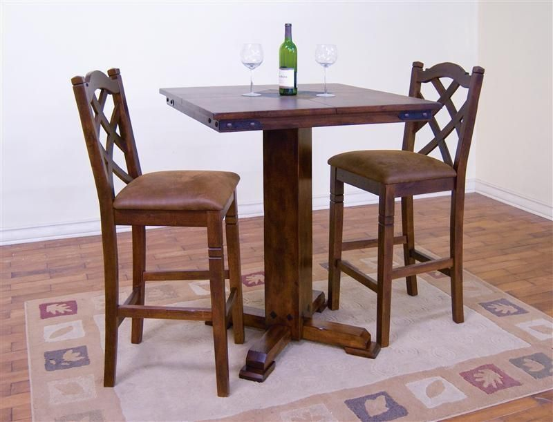 Rustic Pub Set Santa Fe Table With Slates