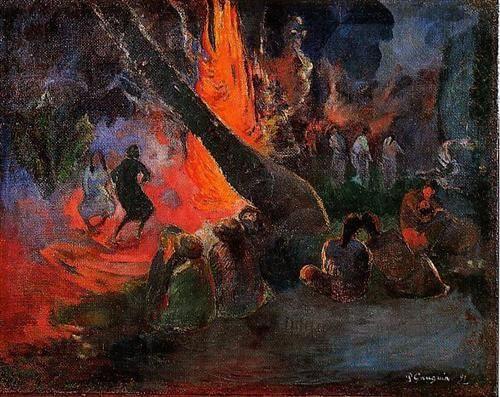 Fire Dance - Paul Gauguin ۞۞۞۞۞۞۞۞۞۞۞۞۞۞ Gaby-Féerie : ses bijoux à thèmes ➜ http://www.alittlemarket.com/boutique/gaby_feerie-132444.html ۞۞۞۞۞۞۞۞۞۞۞۞۞۞