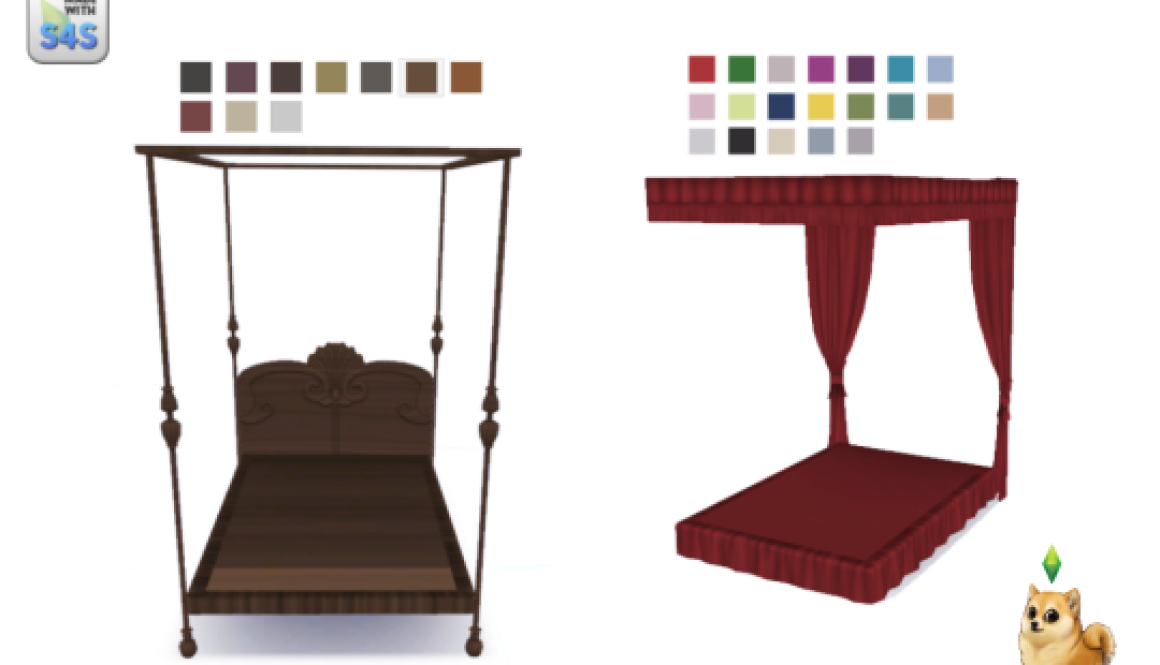 Antique Bed, New and Improved | sims 4 beds | Pinterest