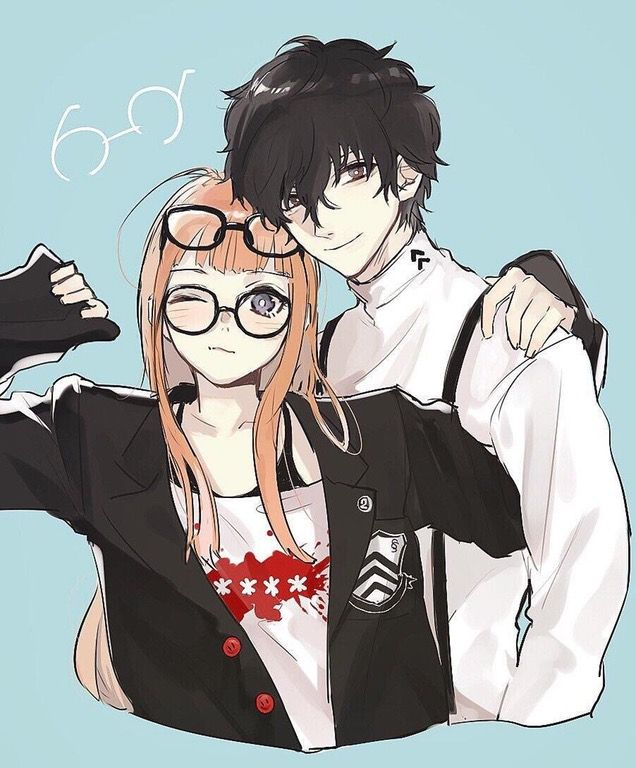 4c2da3b0b5 omg she has his glasses AND jacket on! so cute Futaba and her boyfriend! by  @simulacre__1_2 (Persona)