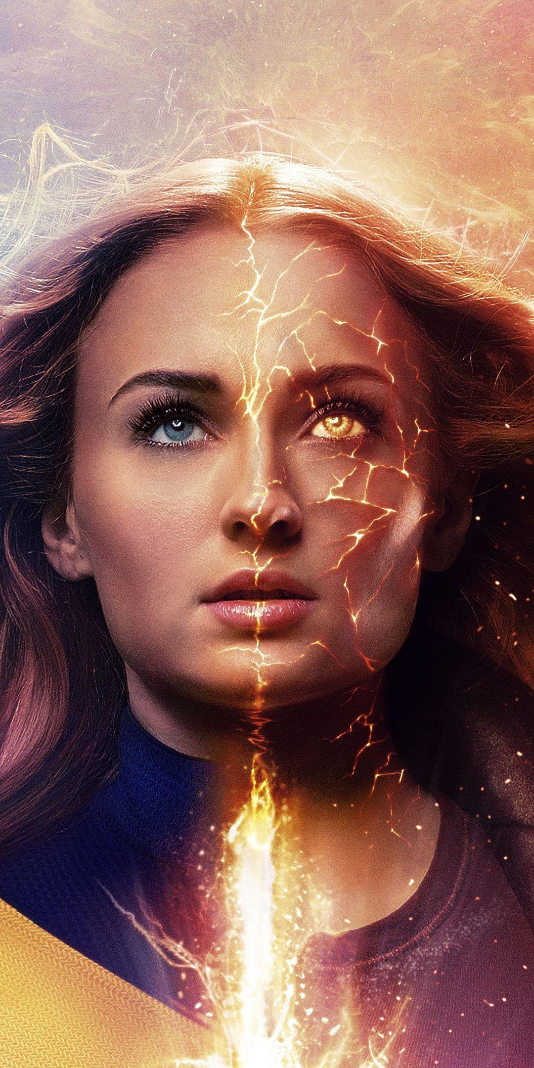1080x2160 Dark Phoenix Jean Grey X Men Sophie Turner Wallpaper Marvel Jean Grey Dark Phoenix Jean Grey