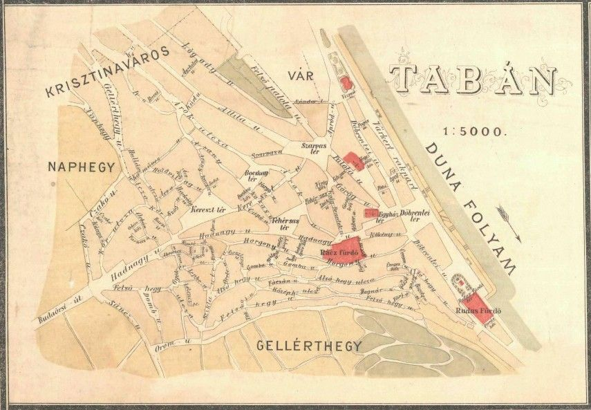 1887 Taban Terkep Az Elso Budapesti Villamos Elindulasanak