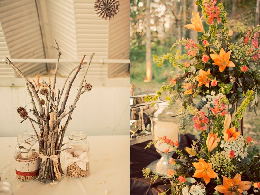 Twig centerpieces (and COLORS!) And, for the … | Handmade + Vintage ...