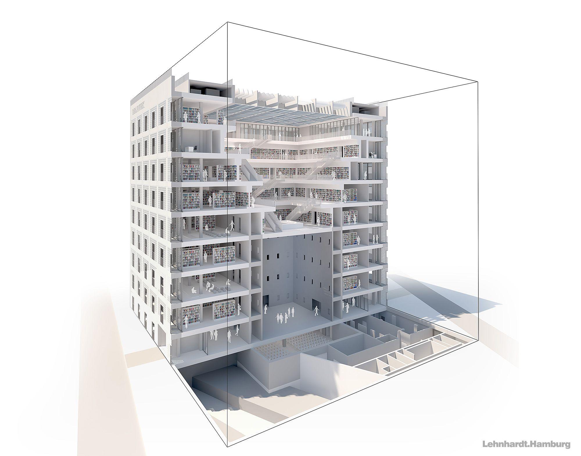 stadtbibliothek stuttgart von architekt eun young yi. Black Bedroom Furniture Sets. Home Design Ideas