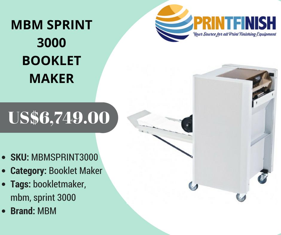 Buy Mbm Sprint 3000 Booklet Maker Detail :- Jogs, Staples
