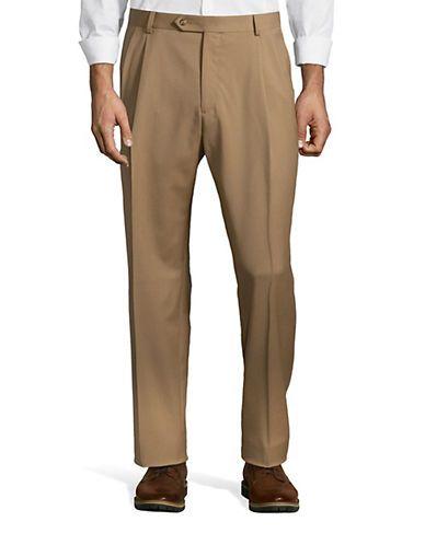 Palm Beach Preston Pleated Pants Men's Caramel 35 Regular