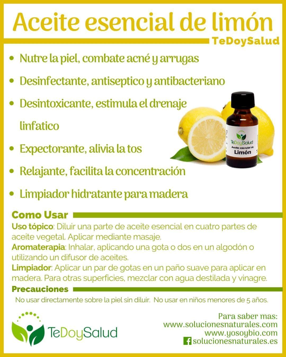 Aceite Esencial De Limón Beneficios Aceites Esenciales De Limón Aceite Guía De Aceites Esenciales