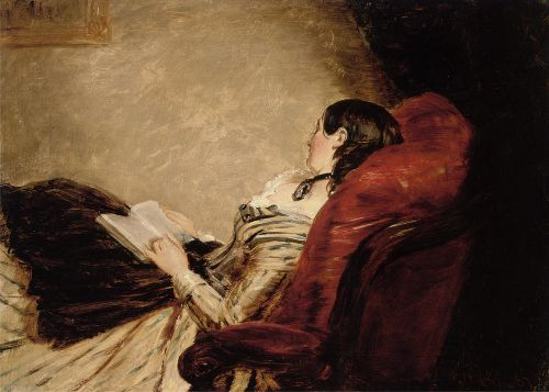 Isabelle Reclining, oil on board by William Powell Frith, British, 1891-1909.