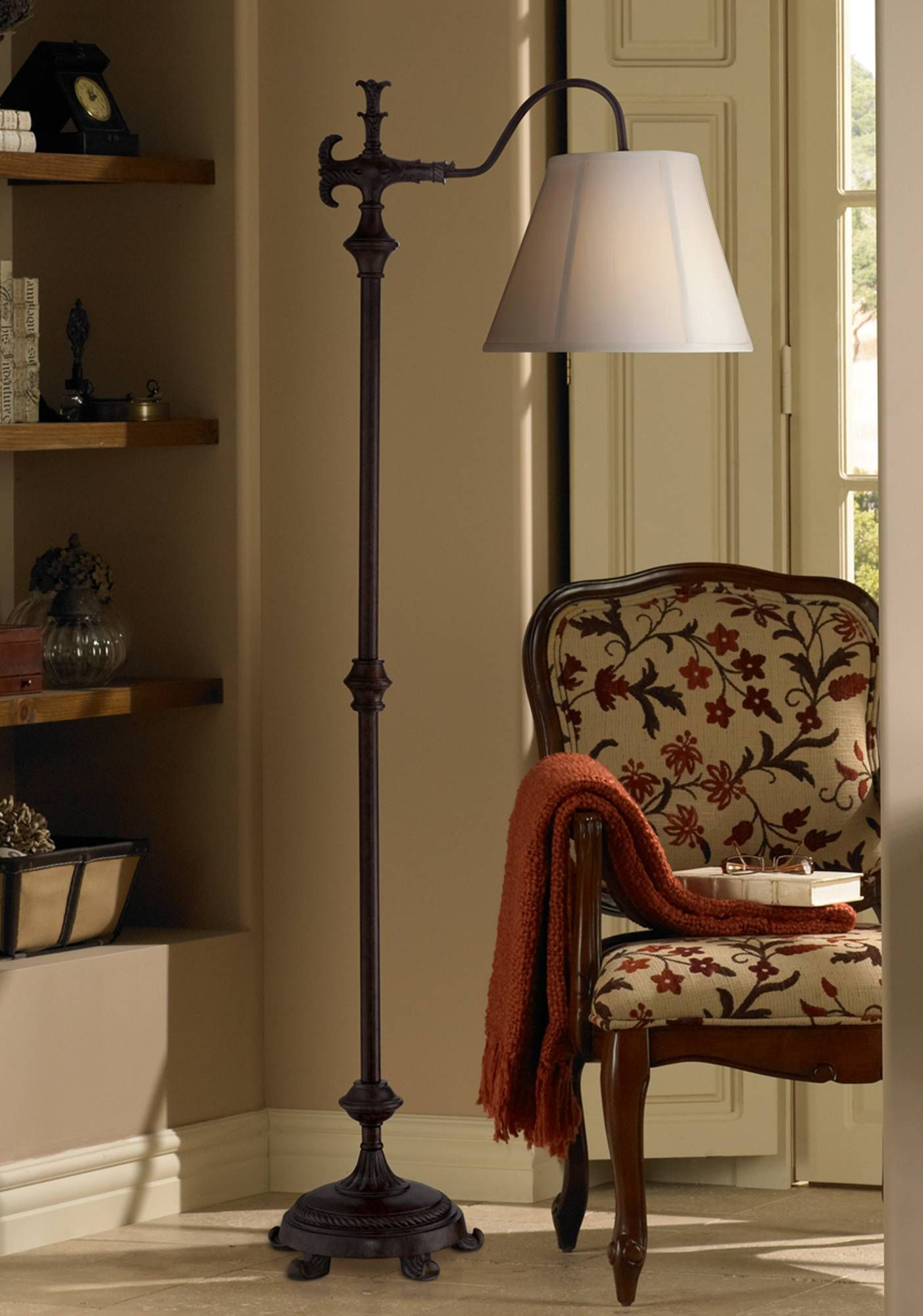 attached lamps target end walmart barn floor pottery tiffany better gardens modern traditional delightful furniture canada table homes rack with tray lamp espresso wood