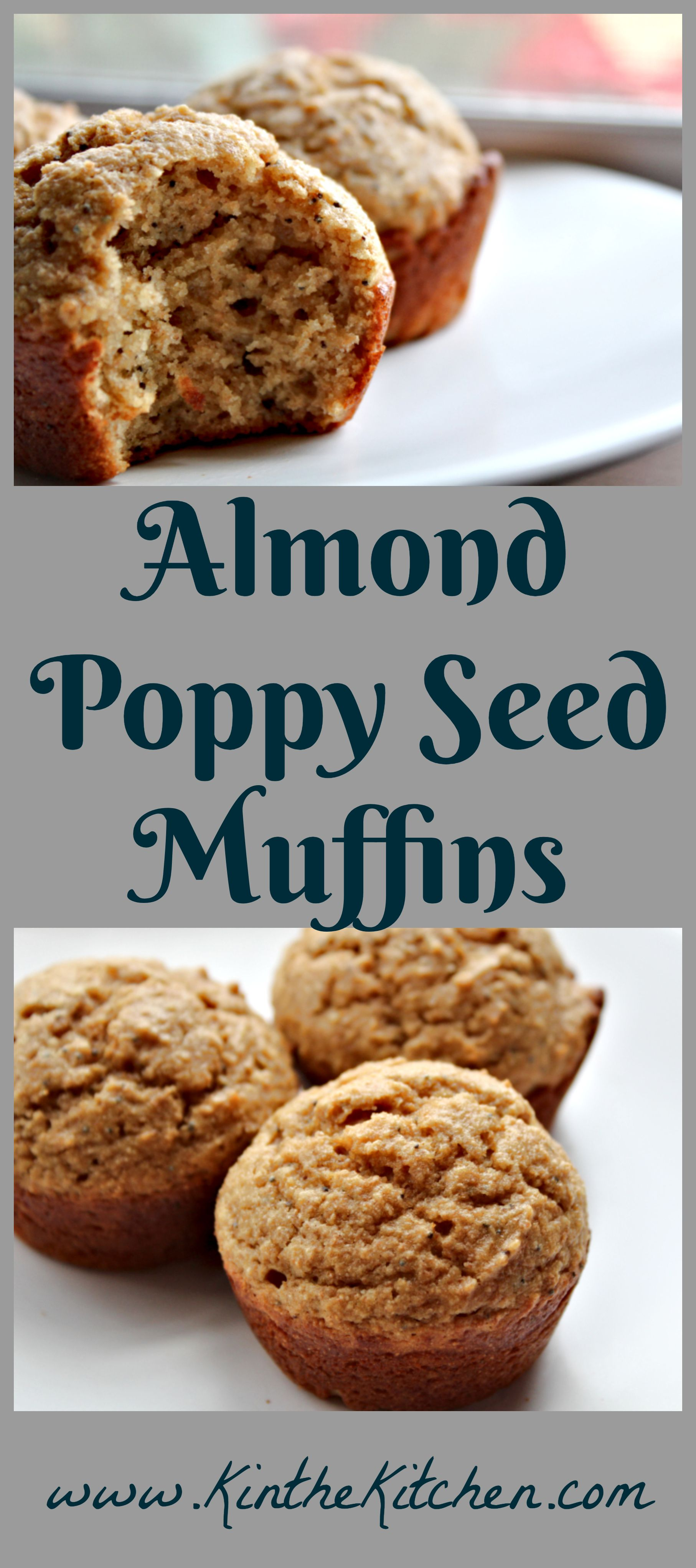 Almond Poppy Seed Muffins KintheKitchen Muffins, Whole