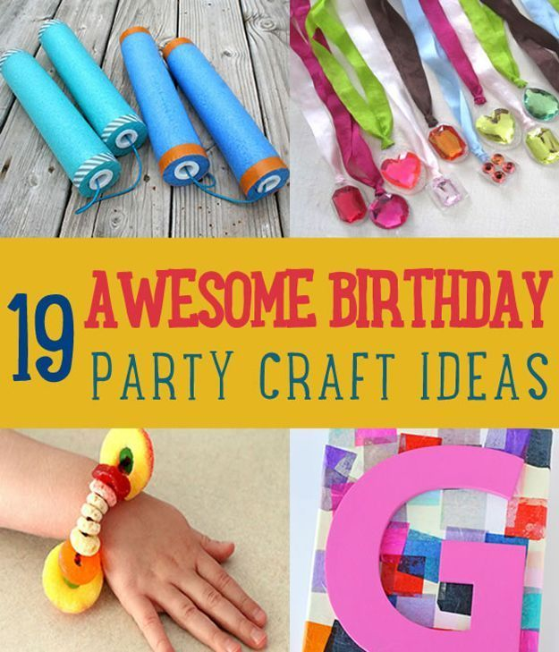 kids craft ideas for birthday parties