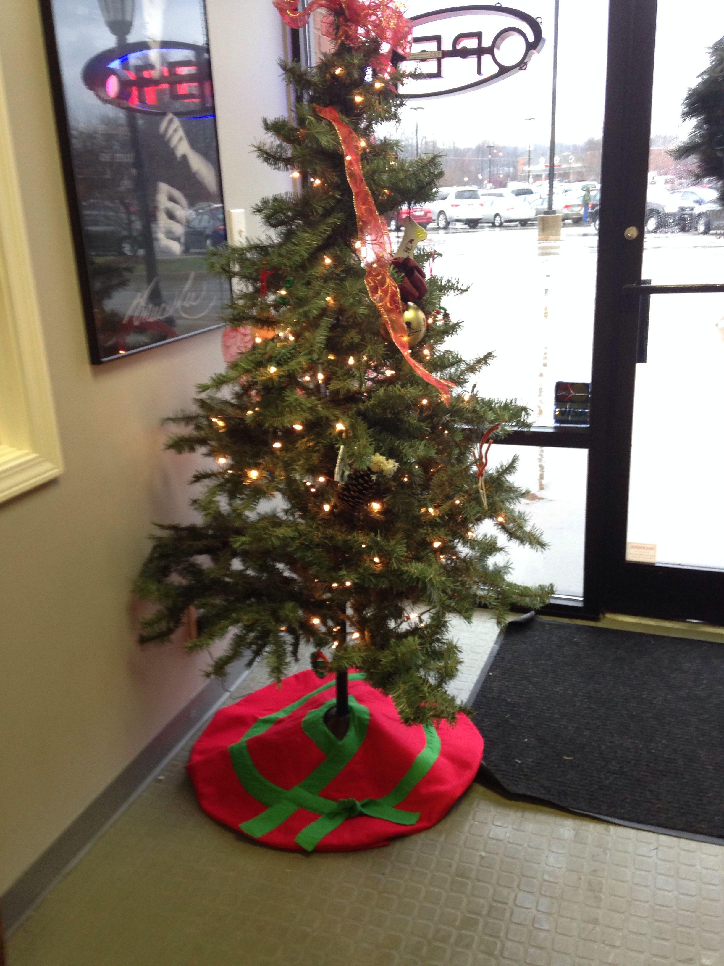 Karate Gi Christmas Tree Skirt Christmas tree skirt