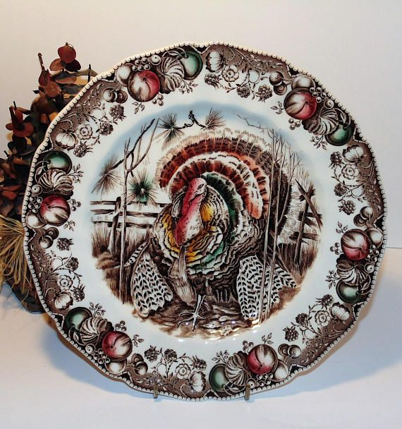 His Majesty Dinner Plate 1950s Vintage Johnson Brothers ...