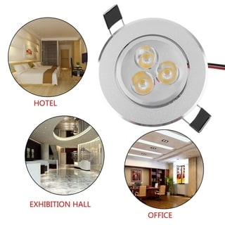 3W Round Recessed LED Panel Light Ceiling Down Lights Bulb Lamp for Indoor Home