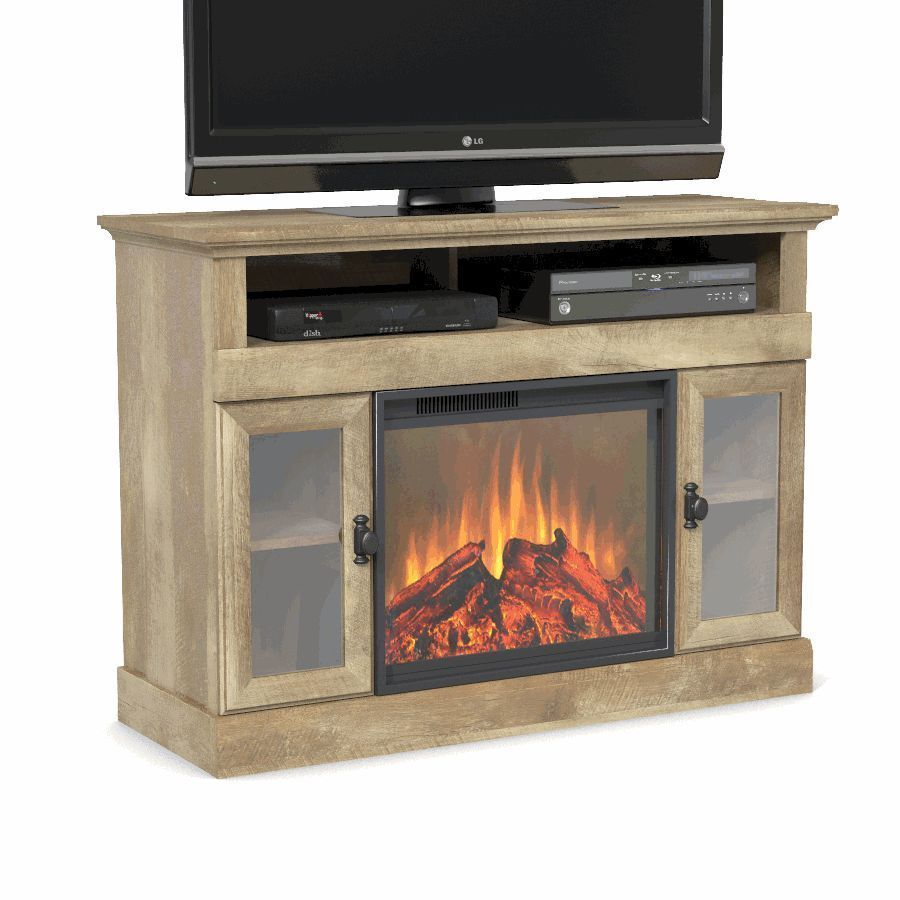 Rustic Tv Stand Fireplace Cabinet Media Console Entertainment