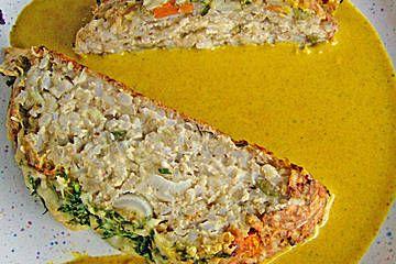 Gemüsebraten mit currysosß