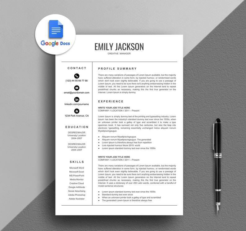 Resume Templates Google Docs Free (5 di 2020