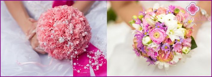 Beautiful color composition for the bride