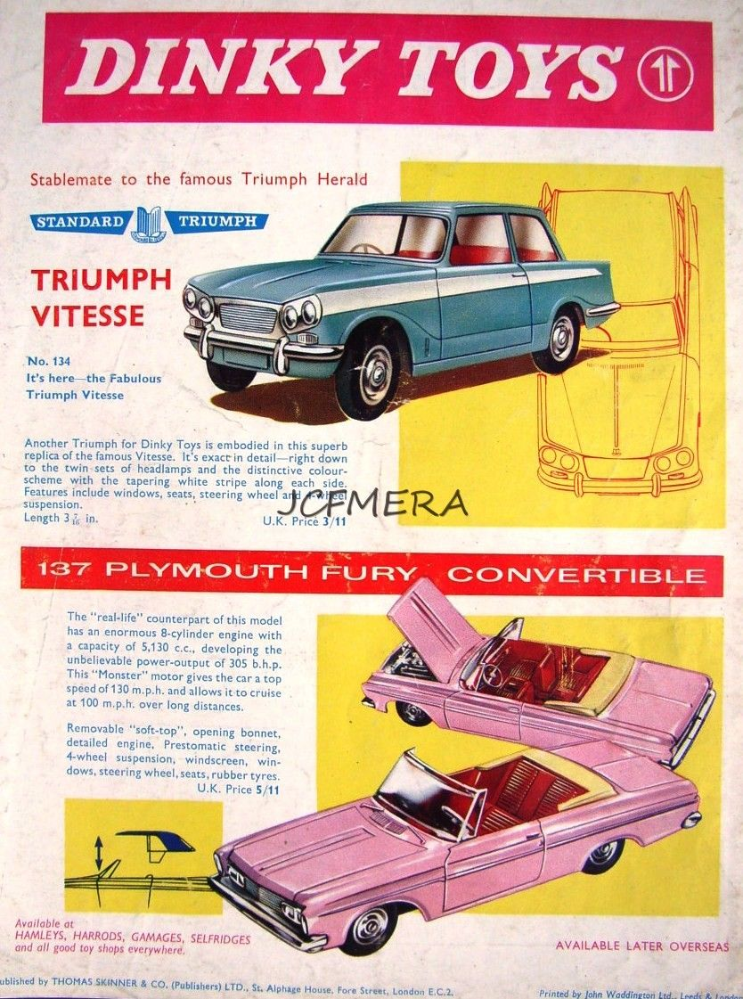 Car 3 toys  Pin by Andreas Rupp on Dinky Toys  Pinterest