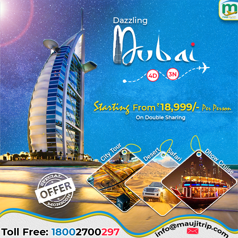 Book 4 Days 3 Nights Dazzling Dubai Tour Packages from