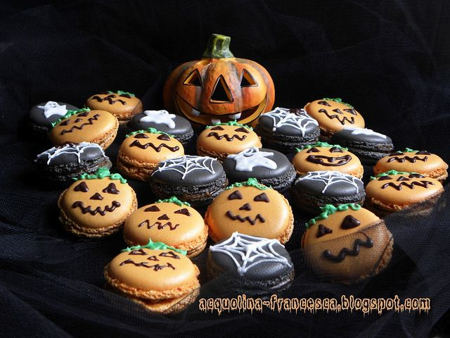 macarons di Halloween