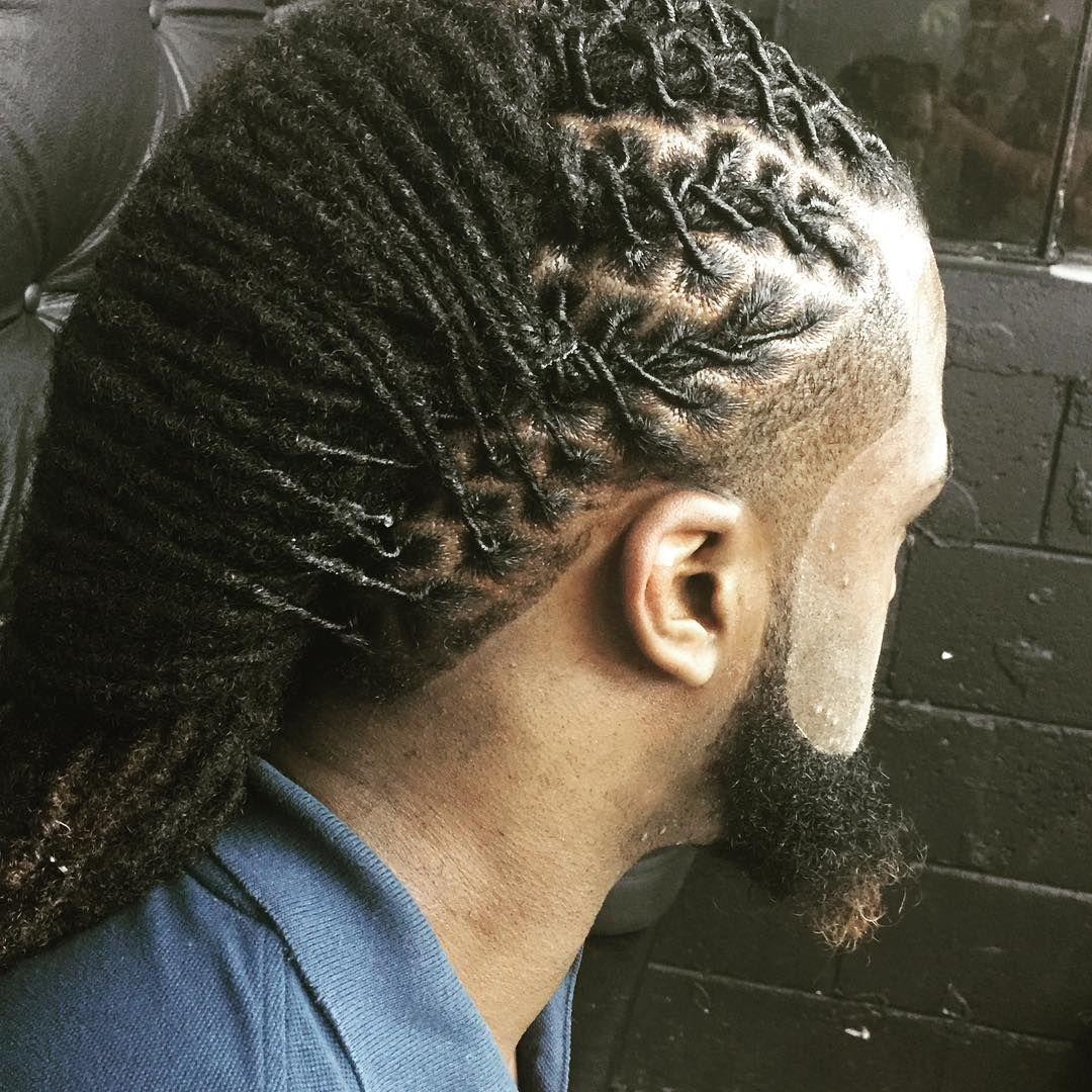 Mohawk with long intricate locs pinterest hair styles dreads