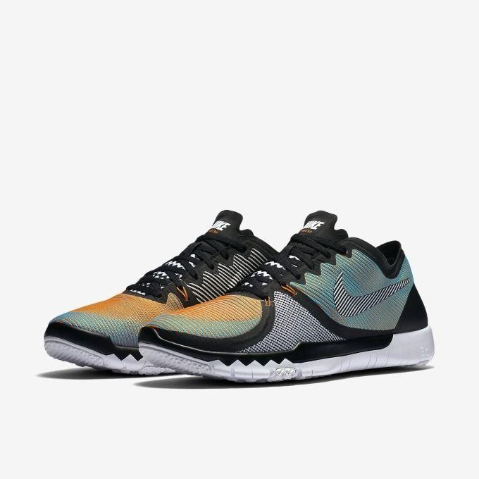 sports shoes fc14d 13d31 Nike Free Trainer 3 0 V4 Blue Vivid Orange  logodesign