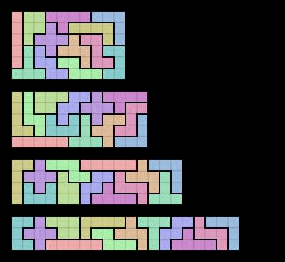 image relating to Pentominoes Printable identify pentominoes printable worksheets Pentomino - Wikipedia