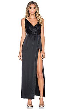 OLCAY GULSEN Halter Dress in Black