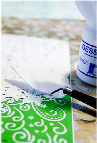 Noor! Design: Spelen met Gesso, zelf reliëfpapier maken