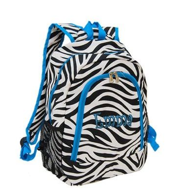 Girls Zebra Backpack | Crazy Backpacks