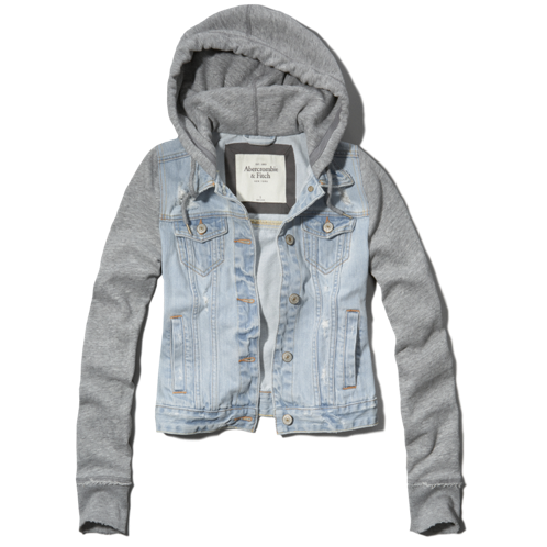 Womens Denim Jacket Hoodie | sexy closet | Pinterest | Shops ...