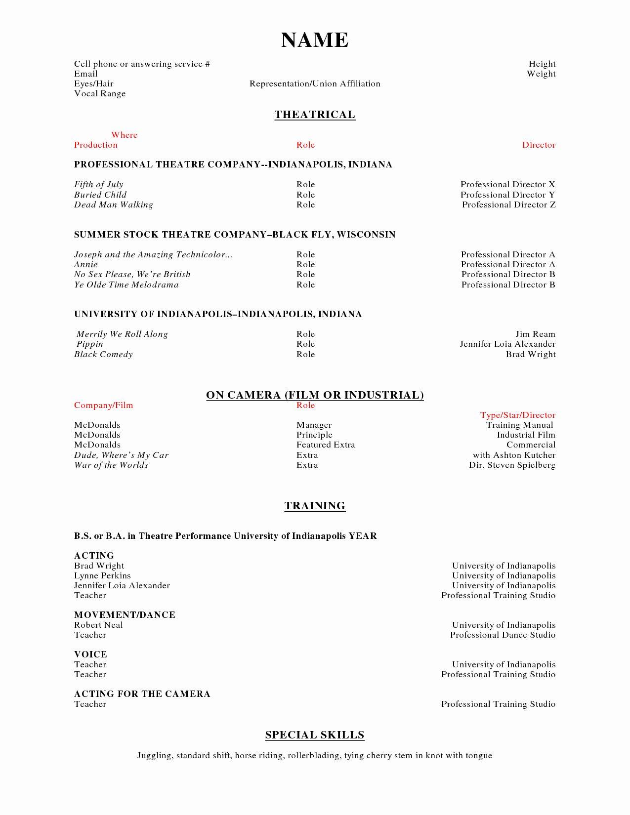 Mcdonalds job description resume fresh job description