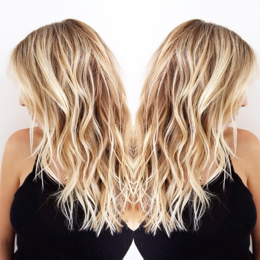 Dimensional California blonde. Hair color by me. Cut/style ...