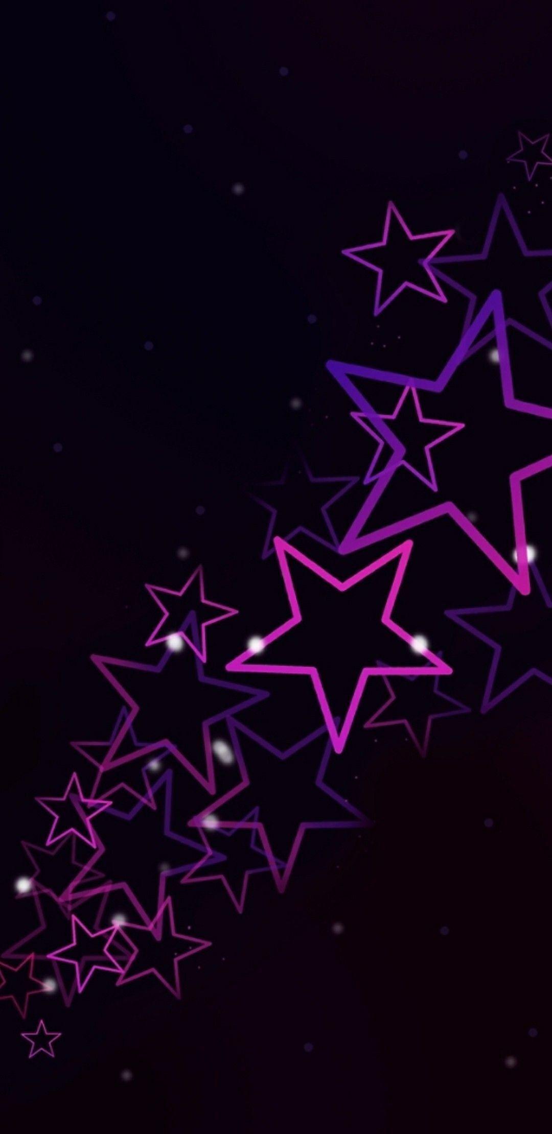 Neon Stars Background