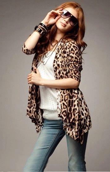 blusa animal print onça