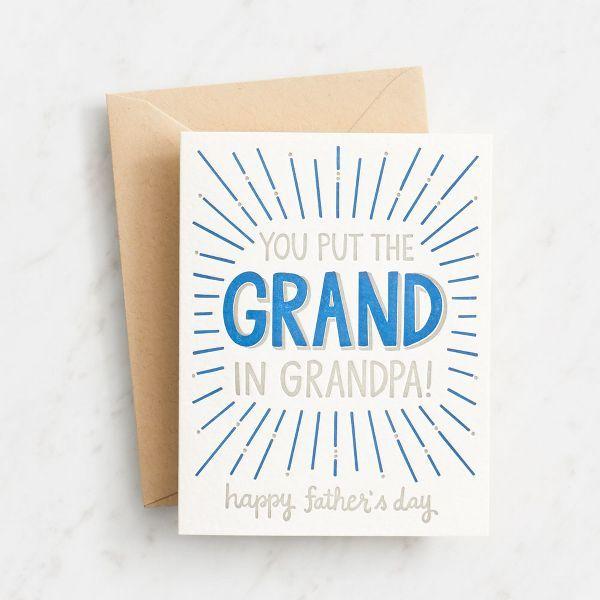 Grandpa Letterpress Father's Day Card | Paper Source