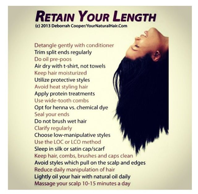How To Retain Length For Natural Hair..following At Least
