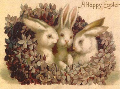 Creepy Vintage Easter Cards | Little Owl Ski