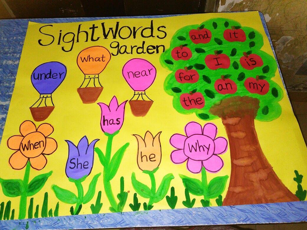 Sight words wall chart | art & craft for preschool | Pinterest ...