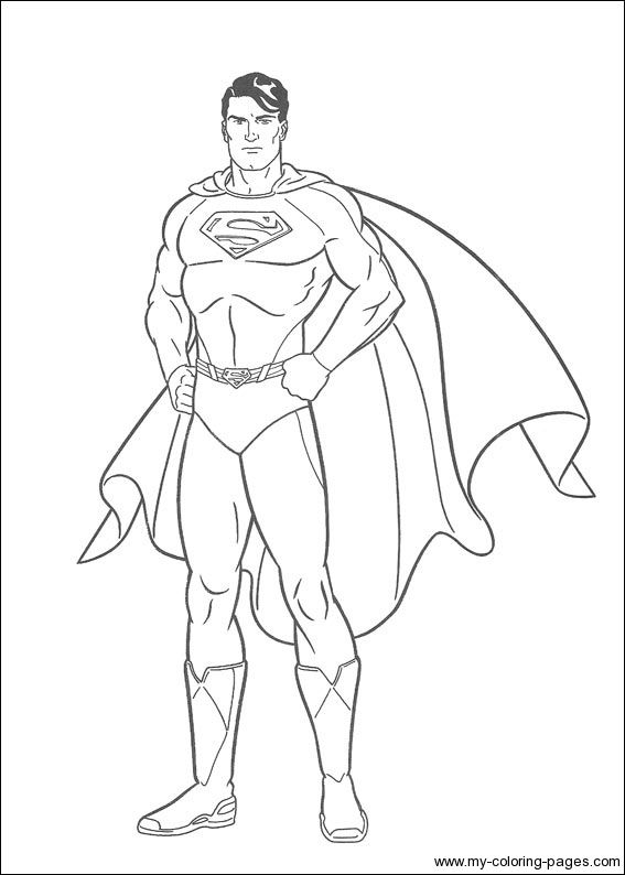 Superman Printable Coloring Pages httpfreecoloringpageinfo