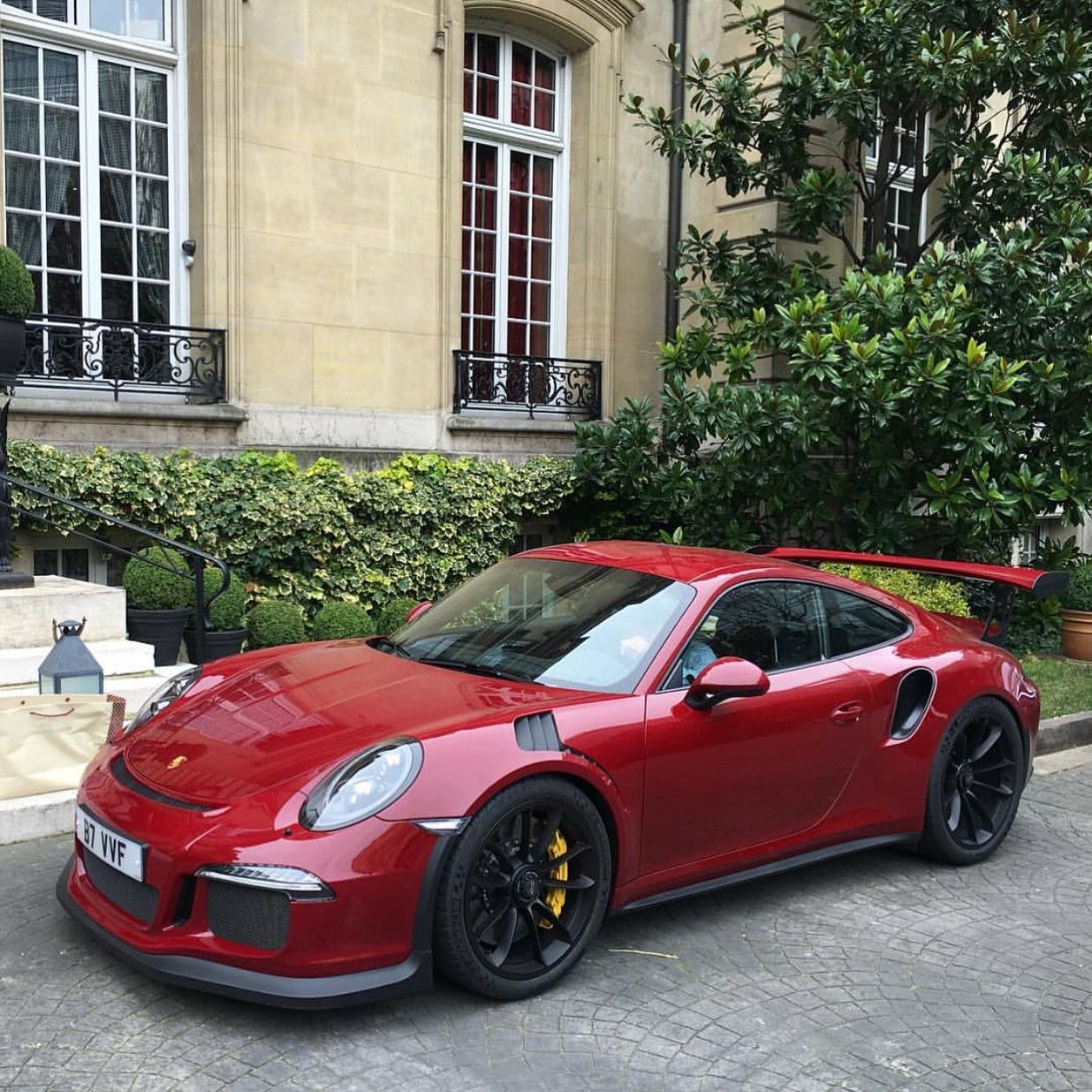 Red Porsche Car: Porsche 991 GT3 RS Painted In Paint To Sample Carmine Red