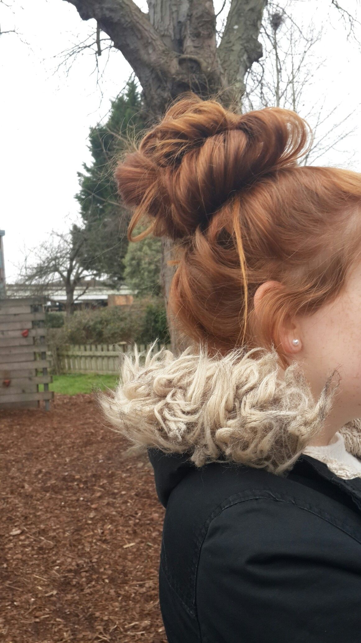 ginger hair. cute bun. messy bun. tumblr | messy buns in