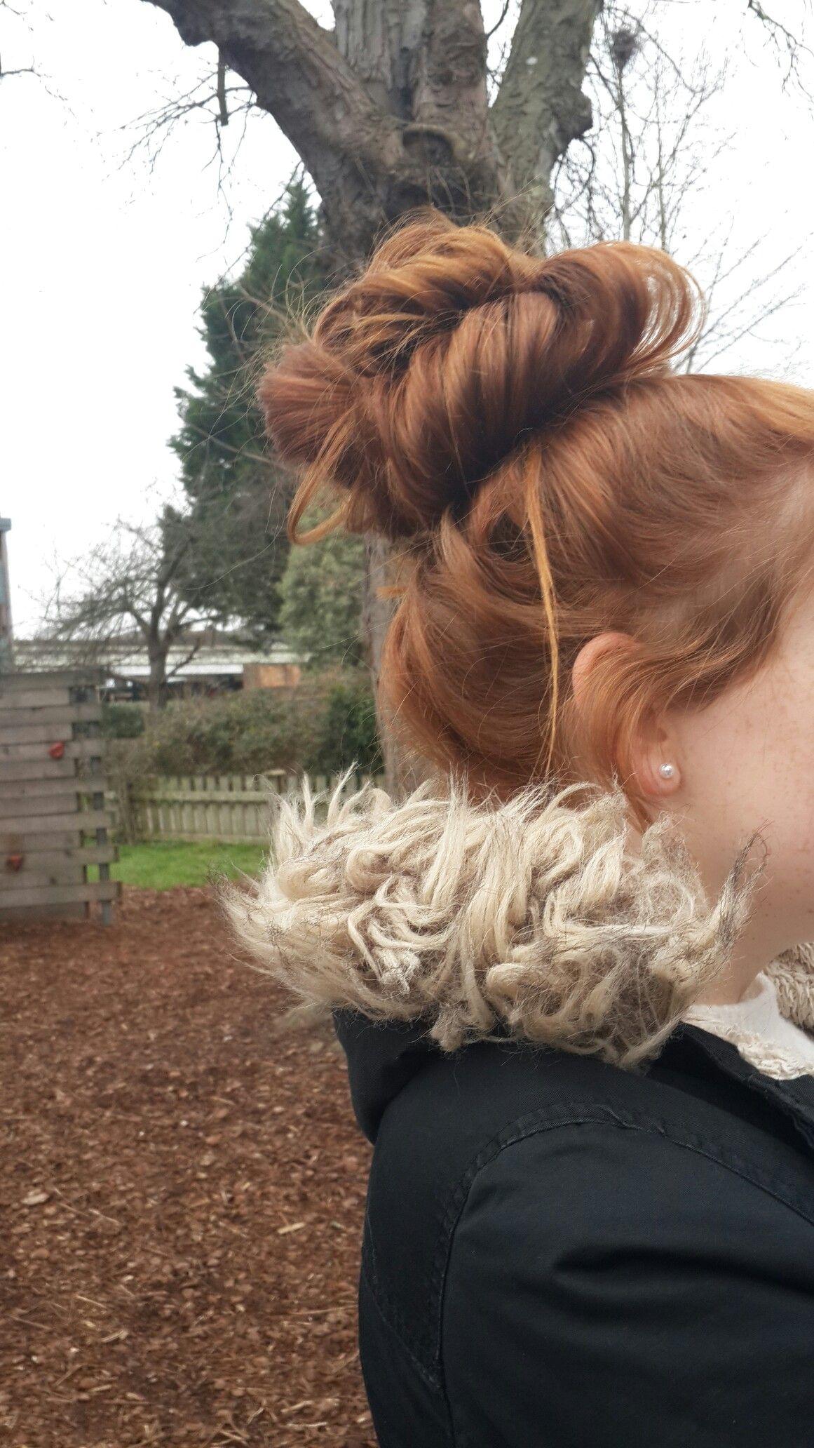Ginger Hair Cute Bun Messy Bun Tumblr Cute Messy Hairstyles Messy Hairstyles Ginger Hair