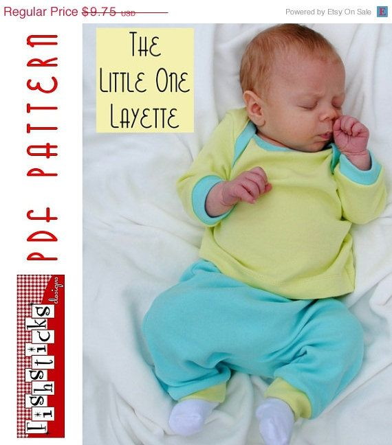 ON SALE PDF Sewing Pattern: The Little One Layette (Instant Download ...