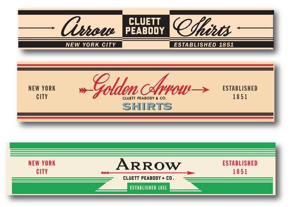 Arrow Vintage 2 by Glenn Wolk, via Behance